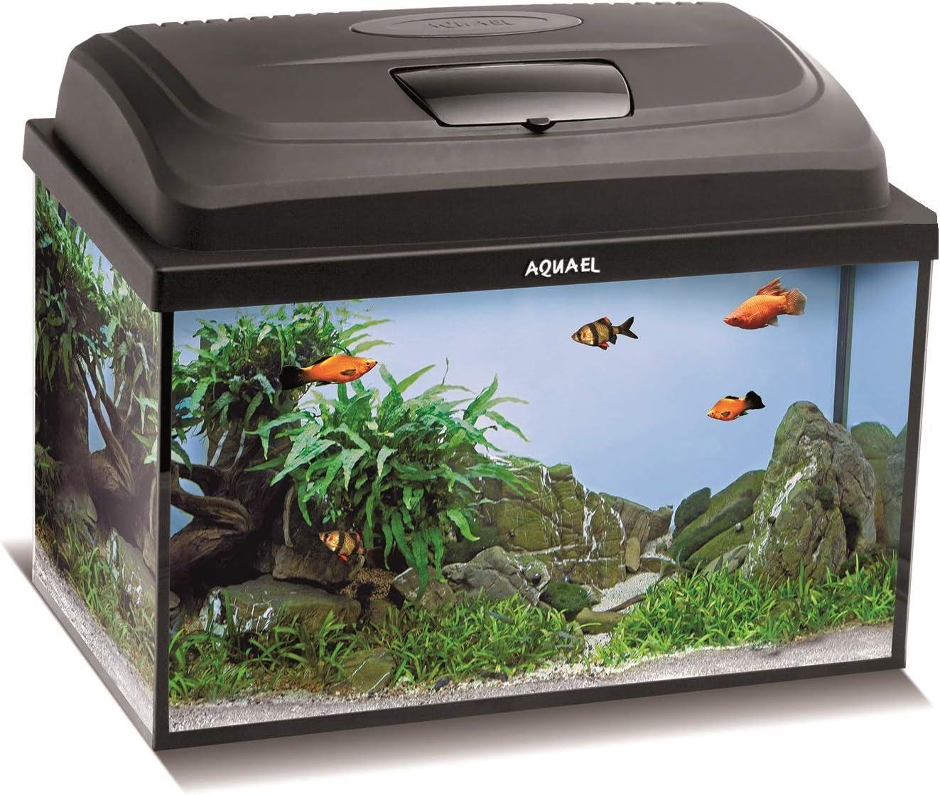 Aquael Set de Acuario Classic LT, Incluye Cubierta, Filtro, Calentador, iluminación LED (40 x 25 x 25 cm, Rectangular)