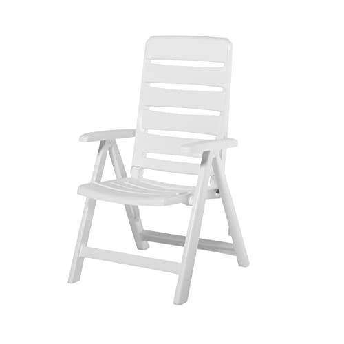 White Plastic Garden Chair Amazon Co Uk