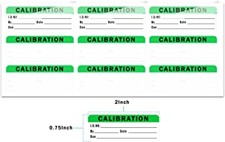 Calibration Stickers, Green Black Word Calibration Labels, Self Laminating Protects Your Writing from Smearing, Tampering and Abrasion, Perfect for NIST, ISO Calibrate Equipment - 132 Labels/Pack