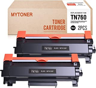 MYTONER New CHIP Compatible Toner Cartridge Replacement for Brother TN730 TN-760 TN760 for Brother HL-L2390DW HL-L2350DW DCP-L2550DW MFC-L2750DW MC-L2710DW HL-L2370DW XL Printer (Black, 2-Pack)