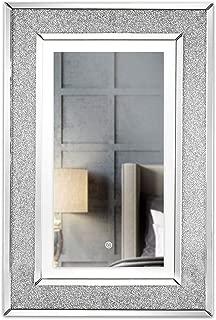 OMMO LEBEINDR Miroir Cristal Mur Vague Autocollant 3D Miroir Carr/é Stickers Muraux Peints pour Living Room Chambre Maison Decor M Argent 1r/égler