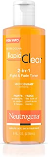 Neutrogena Rapid Clear 2-in-1 Fight & Fade Toner 8 oz (Pack of 2)