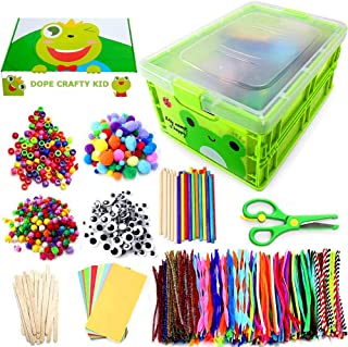 Kids Arts & Crafts Supplies Kit for Age 4 5 6 7 8 9 year olds with Storage Box. DIY Arts Supplies Kit Craft Set Creative A...