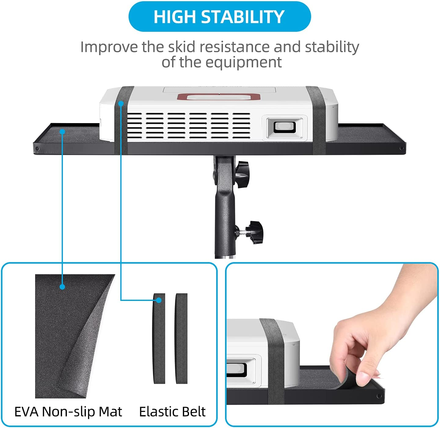 Buy CODN Projector Stand, Foldable Projector Mount Laptop Tripod ...