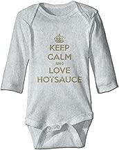 XHX Baby's Keep Calm and Love HOT Sauce Long Sleeve Romper Onesie Bodysuit Jumpsuit