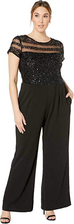 Plus Size Crepe Jumpsuit