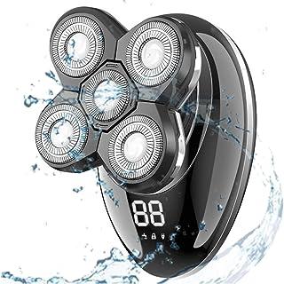 ماكينة حلاقة كهربائية للرجال، مجموعة حلاقة الرأس الصلعاء الكهربائية بدون أسلاك 5 في 1 للحلاقة الرطبة والجافة 4D لشعر الأنف...