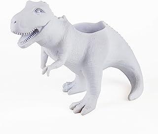 Gift Republic GR450111 T-Rex Dinosaur Planter, White