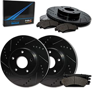 Max Brakes Front & Rear Elite Brake Kit [ E-Coated Slotted Drilled Rotors + Metallic Pads ] TA058883 Fits: 2002 2003 2004 2005 Ford Explorer & Mercury Mountaineer