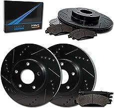 Max Brakes Front & Rear Elite Brake Kit [ E-Coated Slotted Drilled Rotors + Metallic Pads ] TA024083 | Fits: 1999 99 2000 00 2001 01 VW Jetta w/ 280mm Diameter Front Rotors