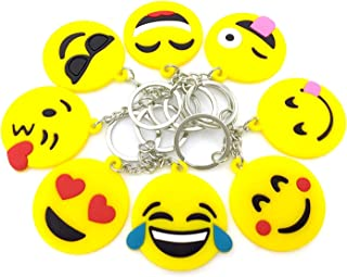 Emoji Keychains, OHill 40 Pack Top 8 Popular Emoji Emoticons Emoji Keyrings Emoji Party Favor Supplies Summer Camp Prizes ...