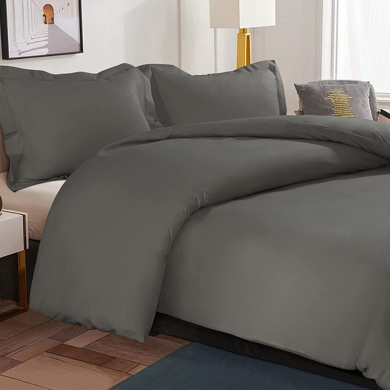 NTBAY Microfiber Twin Duvet Cover Set 2 Pieces Zipp Solid Challenge the lowest price of Japan At the price Color