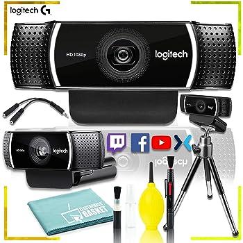 Logitech C922 Pro Stream Webcam 1080P with Tripod + Maintenance Kit