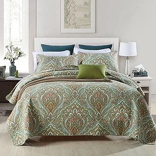 Travan 3-Piece Queen Quilt Sets with Shams Oversized Bedding Bedspread Coverlet Set, SecretGarden