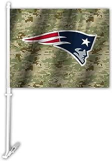 NFL New England Patriots Camo Car Flag, Green, One Size