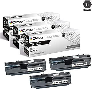 CS Compatible Toner Cartridge Replacement for Kyocera-Mita TK322 Black FS-3900D, FS-3900DN, FS-3900DTN, FS-4000DN, FS-4000DTN Black 3 Set