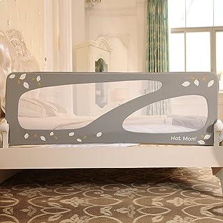 comprar comparacion Hot Mom - barandillas de la cama 150 cm para bebés, portátil y estable, barrera de seguridad,color gris, 2020 new
