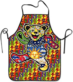 KDJGVM133 Cooking Apron Kitchen Apron Bib Aprons Thanksgiving Dancing Bear Chief Apron Home Easy Care for Kitchen, BBQ, and Grill