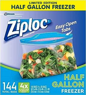 Best half gallon size ziploc bags Reviews