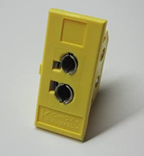 Panel mount k-type thermocouple universal jack socket for standard and miniature thermocouple connector plug