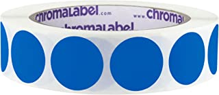 ChromaLabel 1 inch Removable Color-Code Dot Labels | 1,000/Roll (Dark Blue)