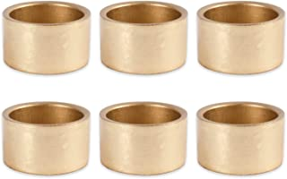 DII Shabby Chic Napkin Rings for Wedding Receptions, Dinners Parties, Family Gatherings, or Everyday Use - Shimmer Gold, Set of 6