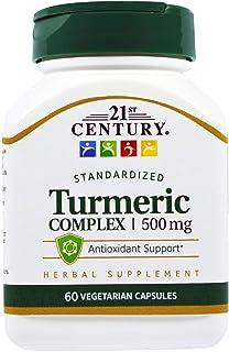 21st Century Turmeric Complex 500 mg - 60 Vegetarian Capsules, Pack of 2