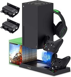 FYOUNG Kits Batterie et Chargeur avec Ventilateur de Refroidissement pour Xbox Series X, Batteries Rechargeables 2X1400 mA...