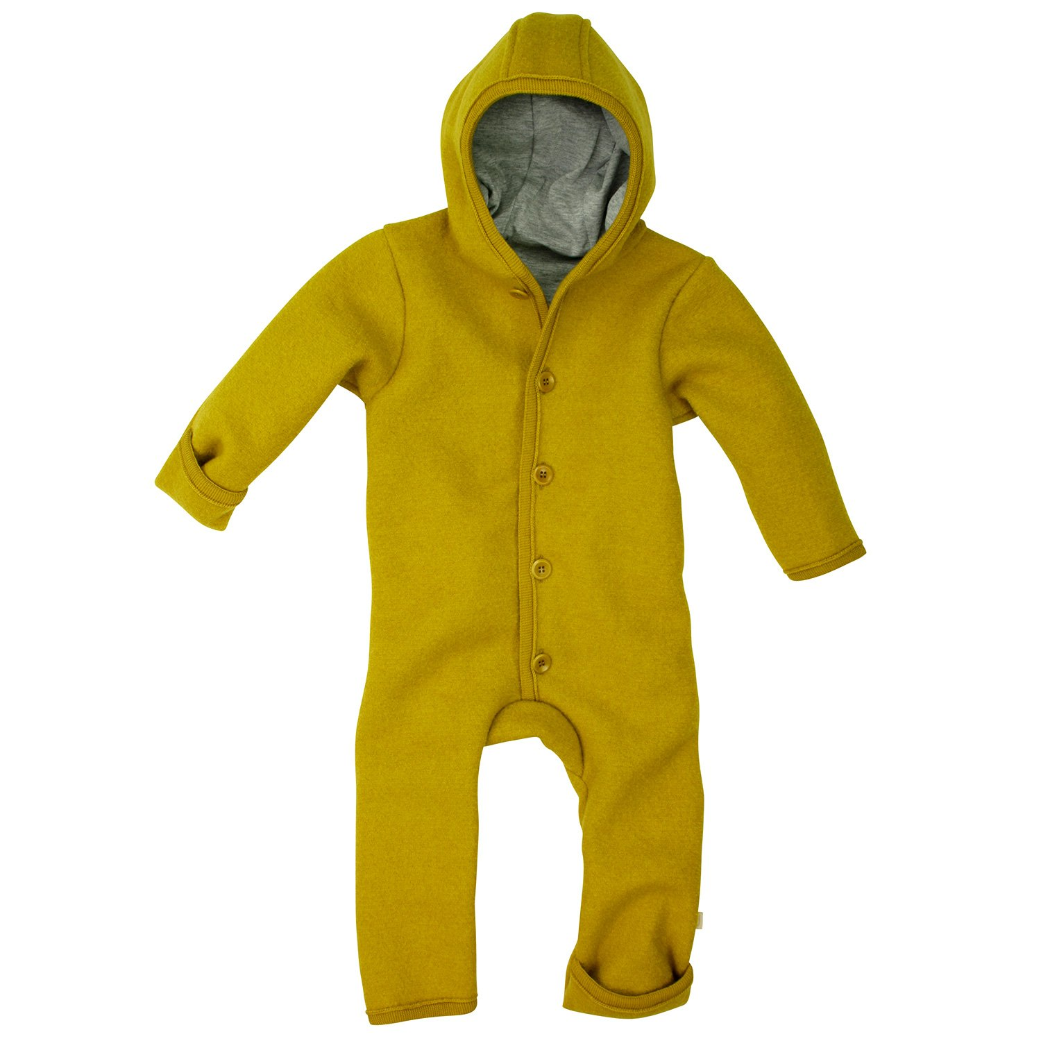 Disana organic merin wool snugglesuit//overall 3-6 month  CURRY