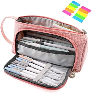 Pencil Case, Yloves Big Capacity Pen Pencil Bag Pouch Box Organizer Holder for School Office Supplies with 2 PCS Index Tab...