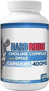 Hard Rhino Choline Complex + DMAE Capsules, 120 Vegetarian Capsules