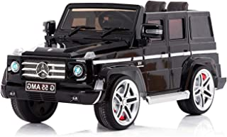 Kool Karz Mercedes-Benz G55 AMG Ride On Car - Officially Licensed G-Wagen 12v Battery Operated Toy SUV for Kids (Black and Gold Limited Edition) with Seatbelt and Parental Remote Control