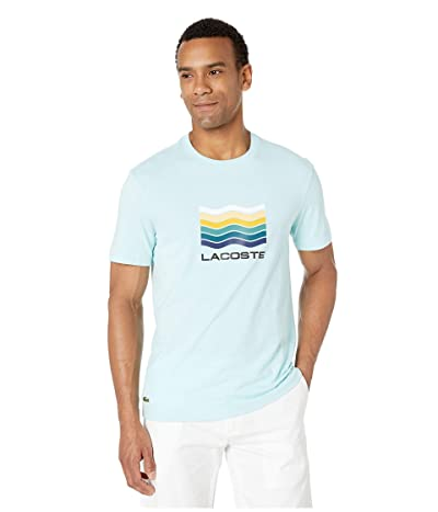 Lacoste Short Sleeve Jersey Graphic T-Shirt (Aquarium) Men