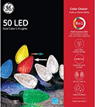GE - Color Choice C9 50 LED Dual Color Christmas String Lights - 32' Feet