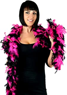 hot pink and black feathers