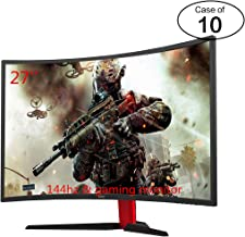 Case of Ten HKC 27'' 144hz 1080P Free Sync LED Curved Gaming Monitor HDMI DP Inputs 3 Year Warranty 90% NTSC