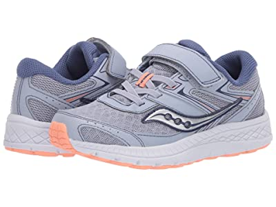 Saucony Kids S-Cohesion 13 A/C (Little Kid/Big Kid) (Blue/Mist/Melon Leather/Mesh) Girls Shoes