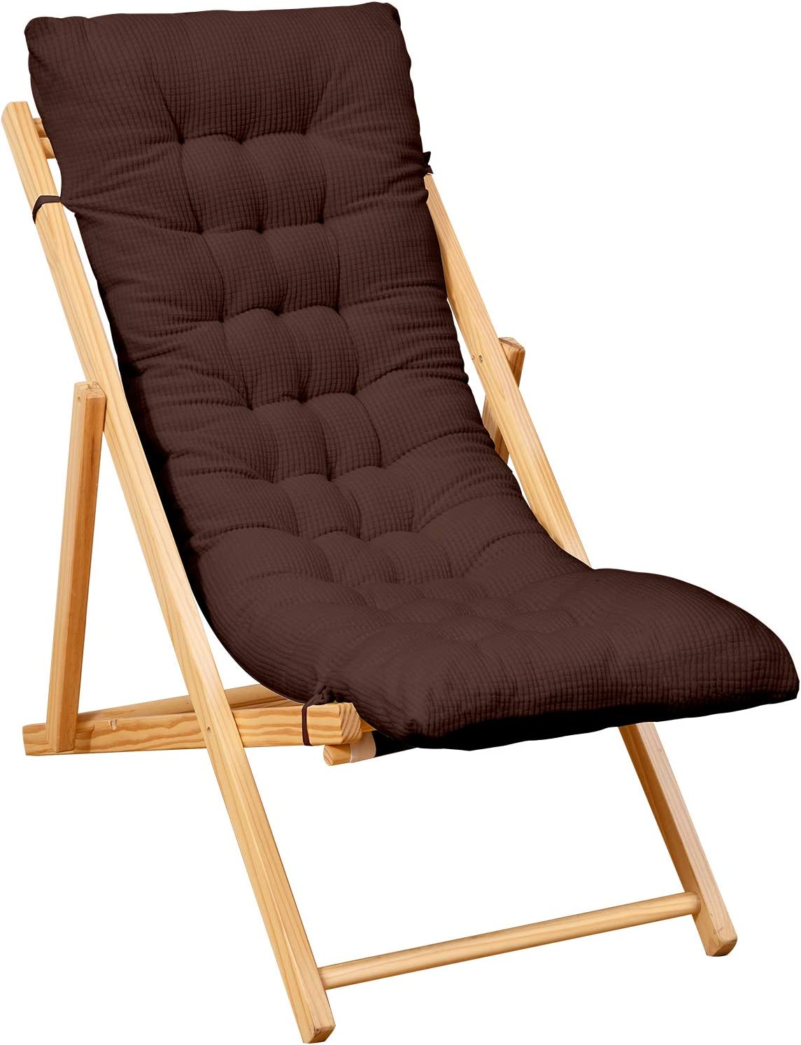 Yimeis Rocking Chair Cushions Pads, Indoor Zero Gravity Swing Long Bench Chaise Recliner Cushions for Lounge Chairs, Outdoor Patio Lawn Lounge Bench Chair Cushions for Outdoor Furniture (Coffee)