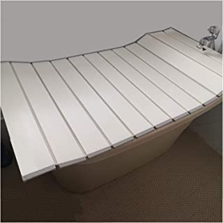 ZHANWEI 浴槽カバー 防塵ボード 風呂ふた,防塵 断熱カバー、 風呂に入る ブラケット 安全性 収納ボード (Color : White, Size : 125x70x1.1cm)