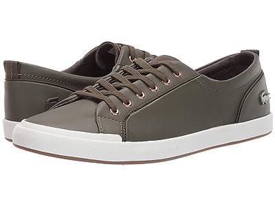 Lacoste Lancelle Sneaker 319 2 (Dark Khaki/Off-White) Women