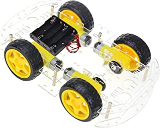 The perseids DIY Robot Smart Car Chassis Kit with Speed Encoder, Wheels and Battery Box (4 Wheels)
