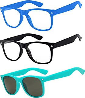 3 Pairs Kids Clear Lens Glasses Protect Child's Eyes from...