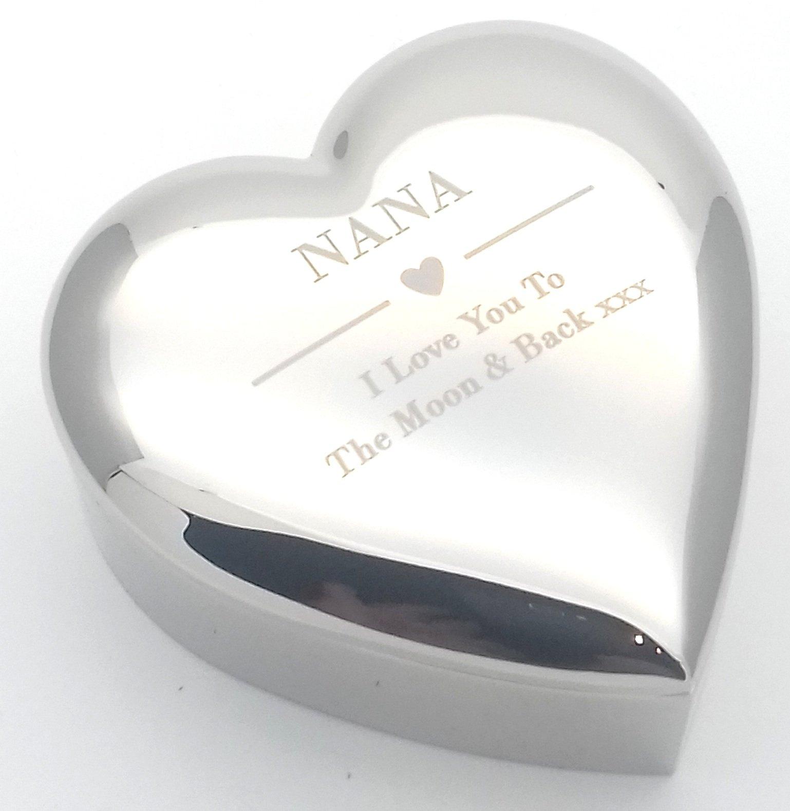 NANA I LOVE YOU TO THE MOON u0026 BACK Silver finish TRINKET BOX Gift Presents Ideas  sc 1 st  Amazon UK & Gifts for Nana: Amazon.co.uk