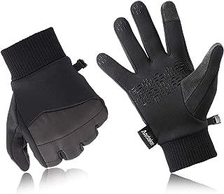 Andake Winter Running Gloves for Men Women Warm Touch Screen Gloves