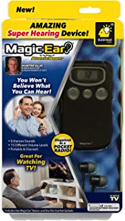 New Official As Seen On TV Atomic Beam Magic Ear Personal Sound Booster by BulbHead, Portable Hearing Amplifier Enhances Vocals, Cancels Out Background Noise (1 Pack)