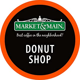 Market & Main OneCup, Donut Shop, Compatible with Keurig K-cup Brewers, 80 Count