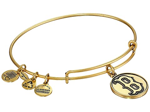 Mlb® Boston Red Sox™ Charm Bangle, Rafaelian Gold Finish