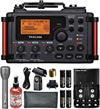 Tascam DR-60DmkII 4-Channel Portable Recorder for DSLR Bundle with Handheld Mic+Mic Sanitizer+Battery &Charger+ FiberTique Cloth