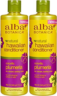 Alba Botanica Hawaiian Replenishing Hair Conditioner, Plumeria, 12 oz, 2 pk