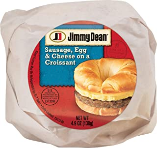 Jimmy Dean Butcher Wrapped Sausage, Egg & Cheese Croissant, 4.9 oz (12 count)